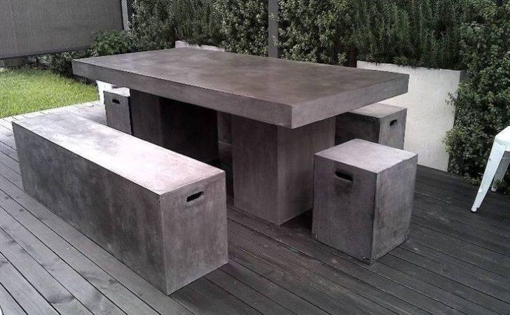 Concrete Outdoor Furniture Dream Home Pinterest