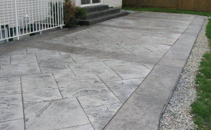 Concrete Patio Wood Stamped Designs Ideas