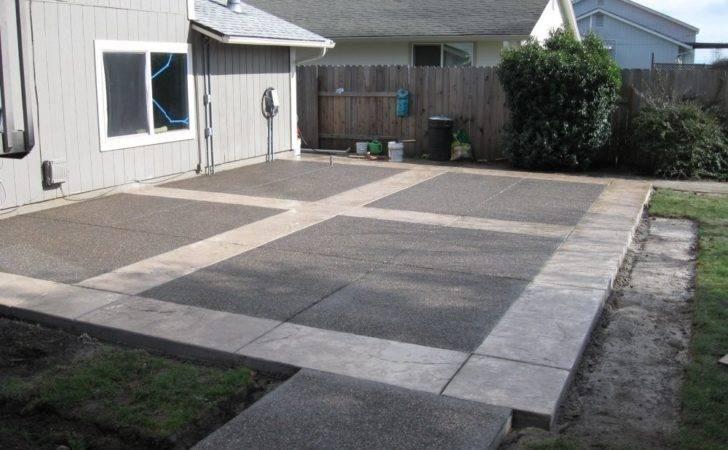 Concrete Patios Here Neat Patio Design