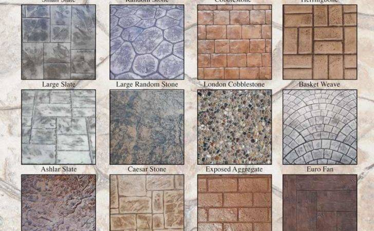 Concrete Patterns Colors Cost Stamped