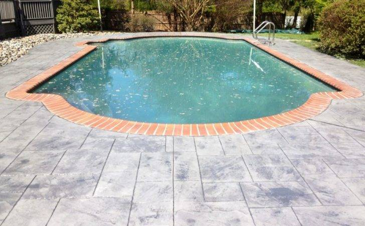 Concrete Pool Deck Chadds Ford Difelice Stamped