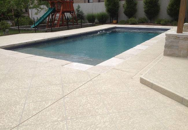 Concrete Pool Deck Design Ideas Louis Refinish
