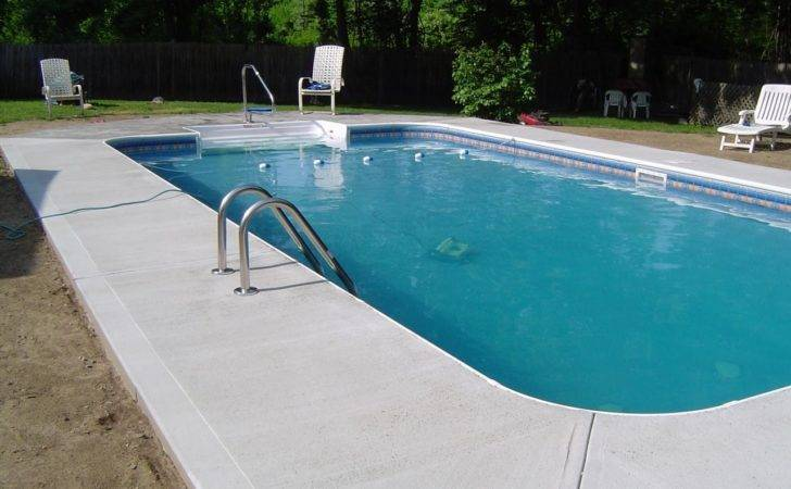 Concrete Rhode Island Stamped Pool Aprons Decks