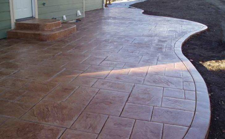 Concrete Slab Patio Ideas Featuring Photos Stamped Designs