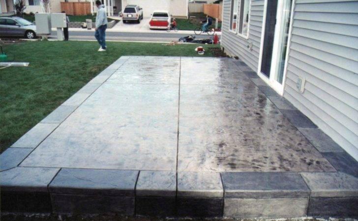 Concrete Stamped Patio Design Ideas