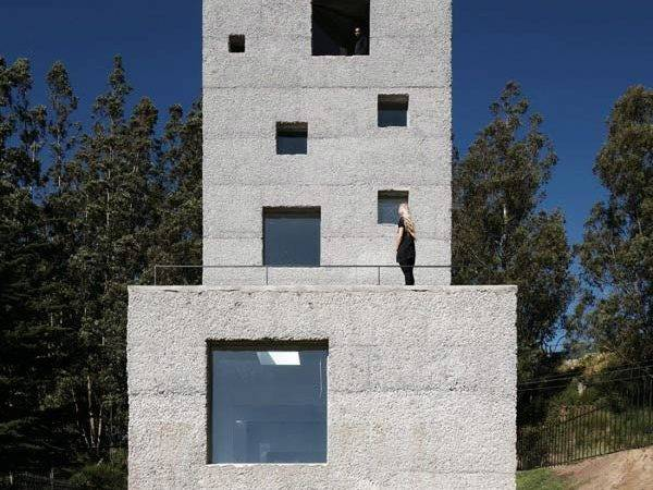 Concrete Tower House Designed Live Work Space