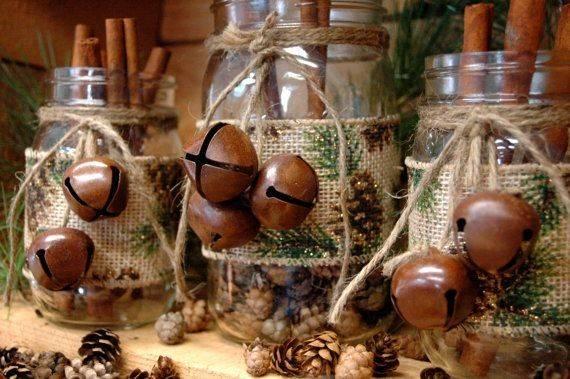 Cone Print Burlap Ribbon Christmas Pineknobsandcrickets