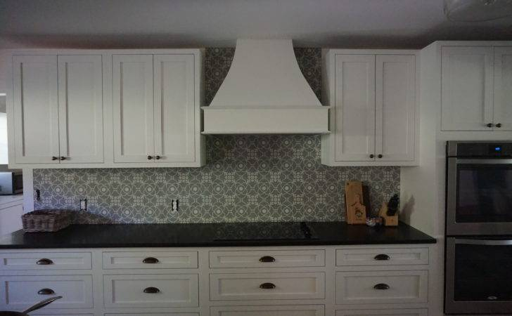 Conestoga Cabinets Cement Tile Backsplash