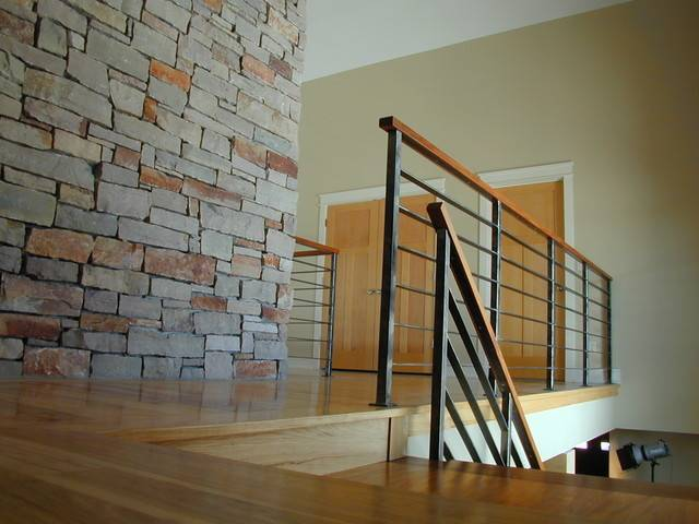 Contempoary Stair Railing Modern Staircase Milwaukee Iron
