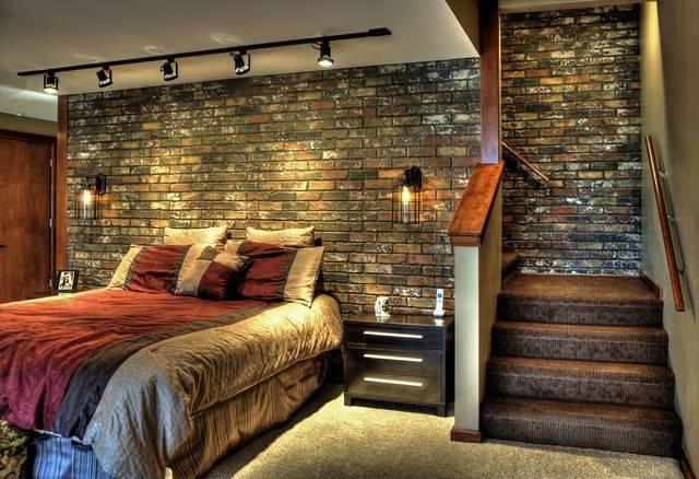 Contemporary Bedroom Design Google Fake Brick Wall Walls