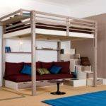 Contemporary Bedroom Loft Bed Adult Floor Beds Adults