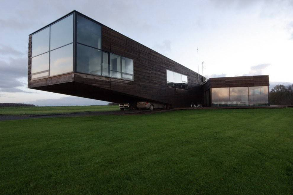 Contemporary Cantilever House Lithuania Most Beautiful Houses