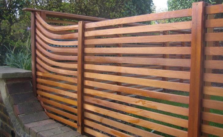 Contemporary Cedar Fence Farnham Decking Network