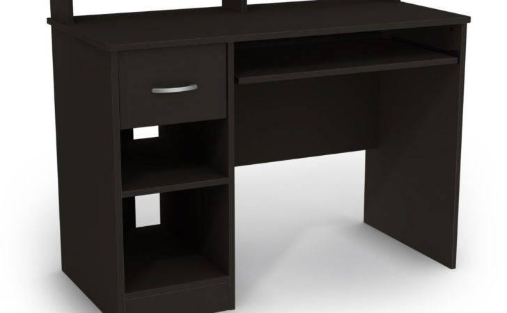 Contemporary Elegant Computer Desk Storage Design