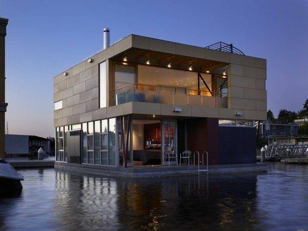 Contemporary Floating Home Seattle Freshome