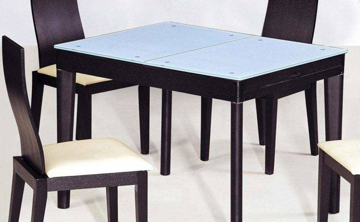 Contemporary Functional Dining Room Table Black Wood Grain