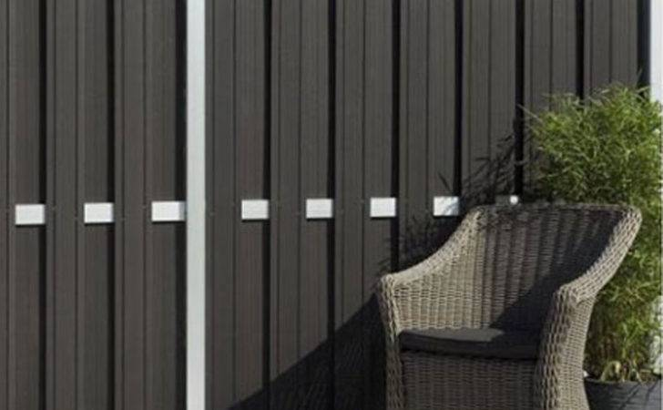 Contemporary Garden Fencing Panels Wpc Composite Aluminium