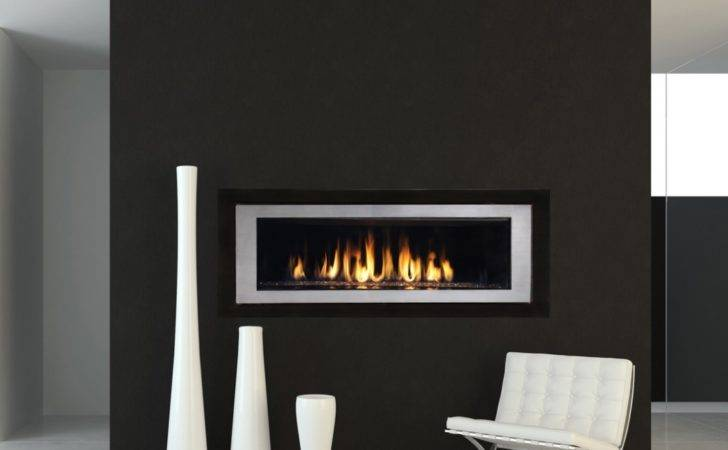 Contemporary Gas Fireplace Popular Kitchen Cabinet Colors Modern