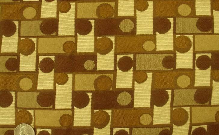 Contemporary Geometric Modern Brown Tan Upholstery