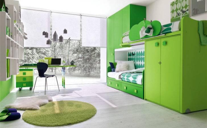 Contemporary Green Kids Bedroom Stemik Living Digsdigs