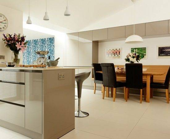 Contemporary Grey Kitchen Diner Modern Decorating Ideas Beautiful