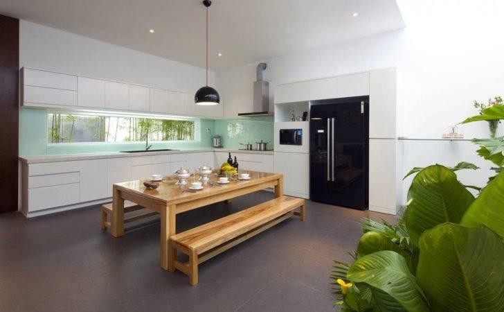 Contemporary Kitchen Diner Layout Interior Design Ideas