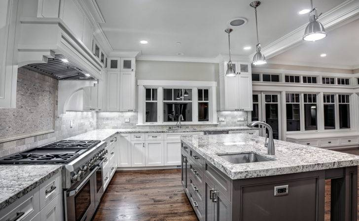 Contemporary Kitchen White Granite Countertops