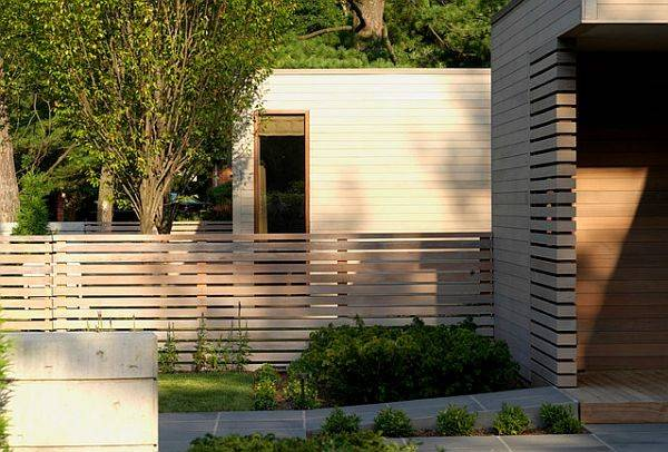 Contemporary Landscape Fencing Modern Home Unoffending