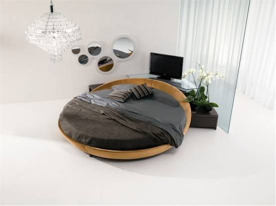 Contemporary Leather Round Beds Prealpi Digsdigs