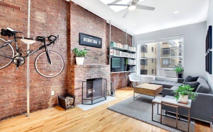 Contemporary Living Room Carpet Built Bookshelf New York