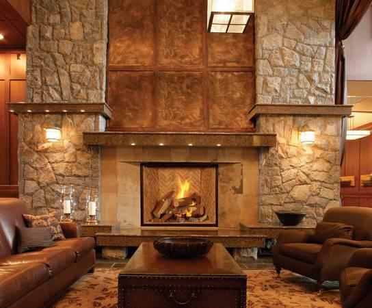 Contemporary Living Room Sacramento Rustic Fire Place