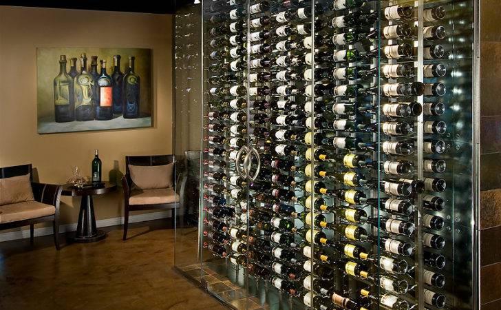 Contemporary Metal Racking Wine Cellar