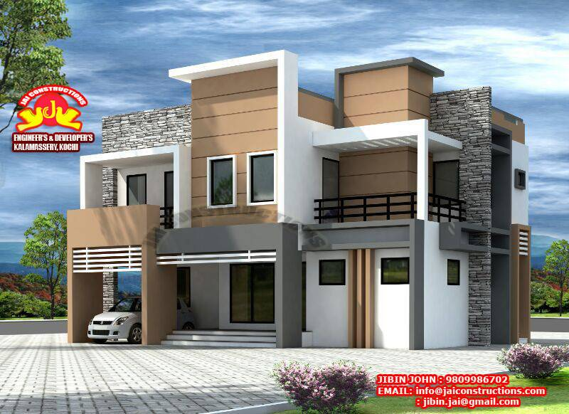 Contemporary Model Plans Kerala Home