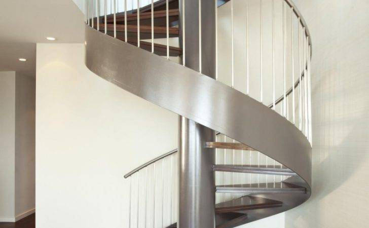 Contemporary Modern Curved Stairs