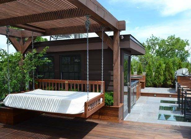 Contemporary Outdoor Rooms Swing