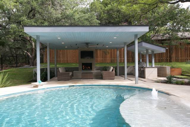 Contemporary Pool Cabana Grill