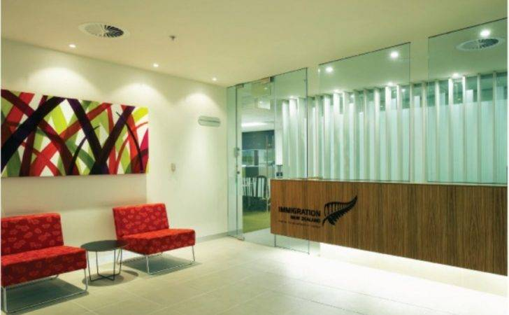Contemporary Red Sofa Fascinating Commercial Office Interior Design
