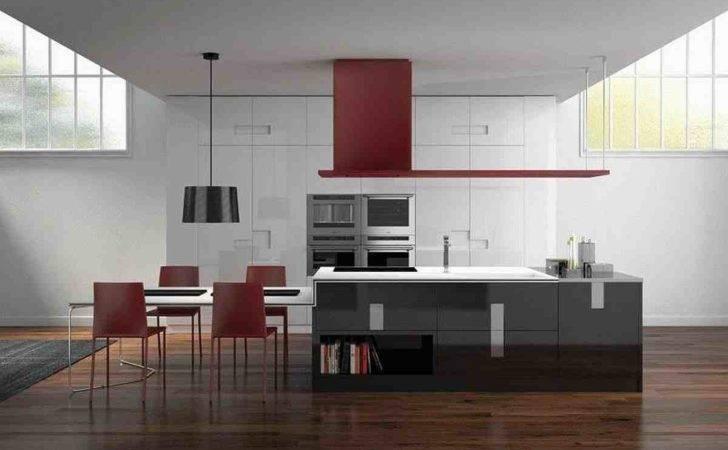 Contemporary Red White Italian Kitchen Design Best