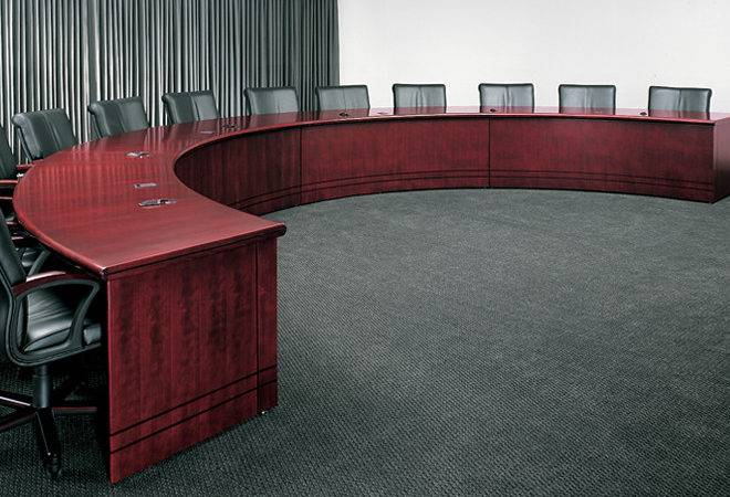 Contemporary Semi Circular Conference Table Arnold Furniture New