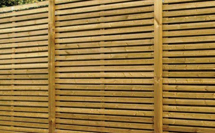 Contemporary Slatted Fence Panel Pack Green