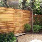Contemporary Slatted Panels Fence Essex
