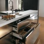 Contemporary Stainless Steel Kitchen Cabinets Elektra Plain