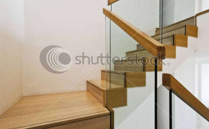 Contemporary Stair Railing Case Wooden Steps