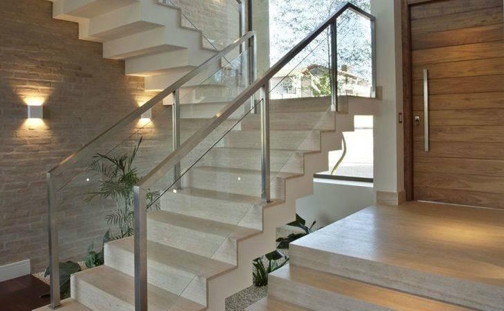 Contemporary Stairs Elegant Dream Home Sao Paulo Pupo Gaspar