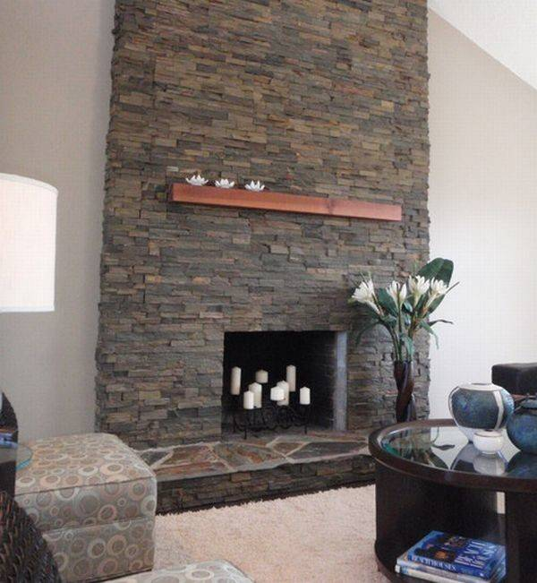 Contemporary Stone Fireplace Designs Becuo