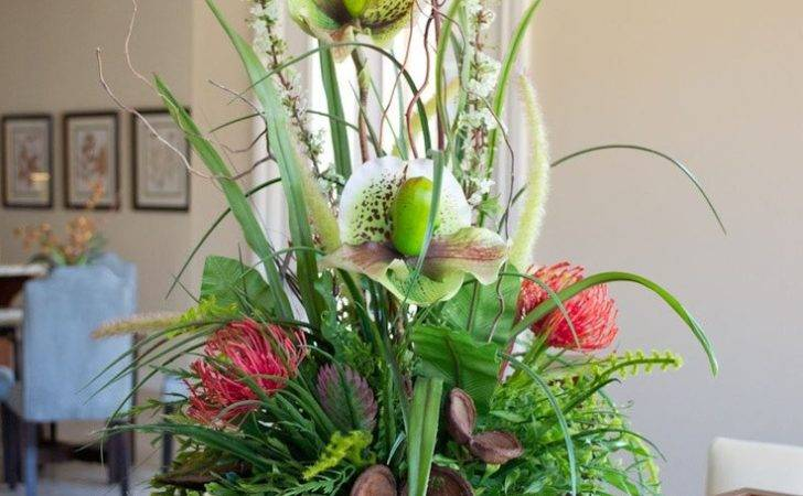 Contemporary Wild Orchid Floral Arrangement Essentialsilkdecor