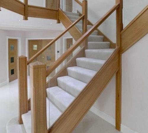 Contemporary Wood Glass Banister Integra James Grace