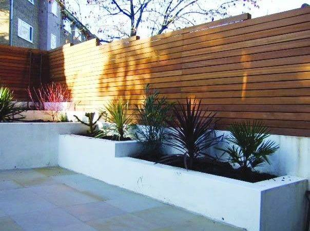 Contemporary Wooden Fence Backyard Pinterest