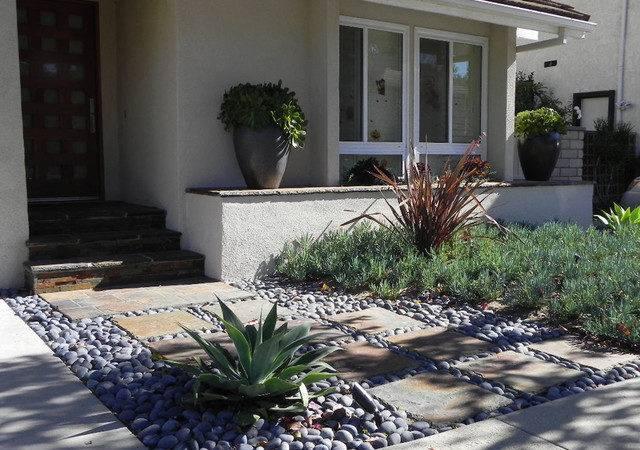 Contemporary Xeriscape Garden Los Angeles