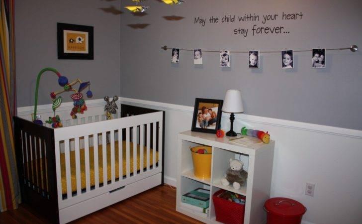 Contemporary Yellow Gray Nursery